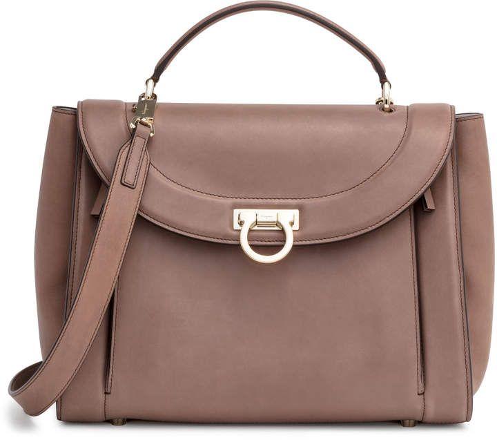 d52cb85d3537 Salvatore Ferragamo Sofia Medium Rainbow Brown Bag