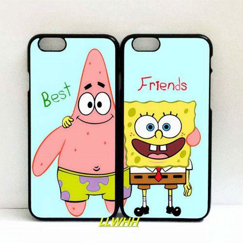 Funda Patrick SpongeBob BFF Capa Clear Soft Silicone Couple Cover