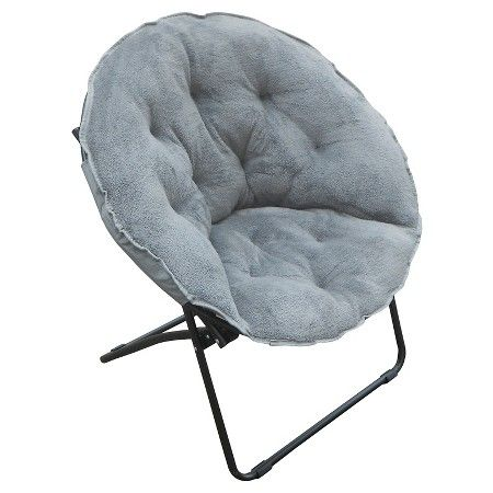 Apartment Room Essentials fuzzy dish chair gray - room essentials™ : target   dorm ideas