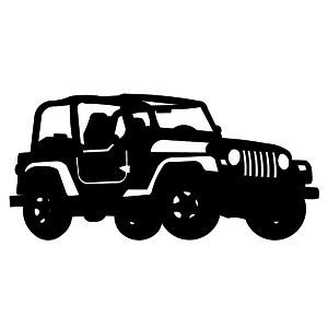 Jeep Silhouette Car Silhouette Jeep Life Decal Silhouette