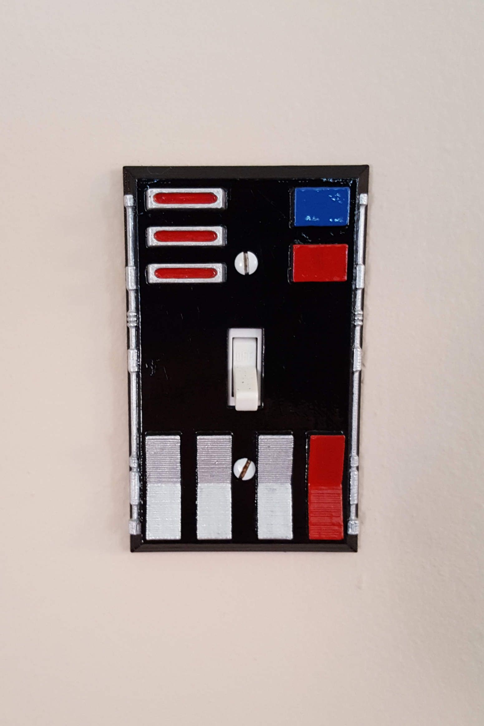 Hand Painted Darth Vader Chest Control Box Light Switch Cover by ...