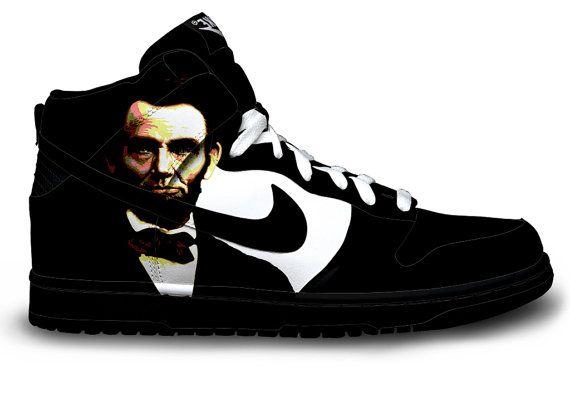 68315cdff7de90 Abraham Lincoln Nike Dunks by Customs4you on Etsy