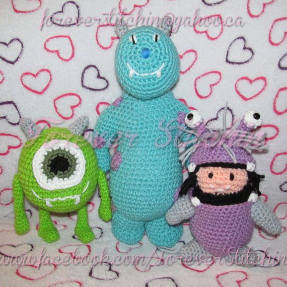 Sully Mike  Boo Monsters Crochet Pattern by 1m3bForeverStitchin, $6.50