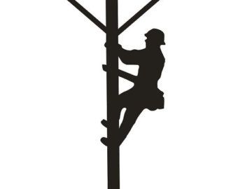 lineman clip art 24 vintage lineman silhouette free cliparts rh pinterest com power lineman clipart lineman clipart black and white
