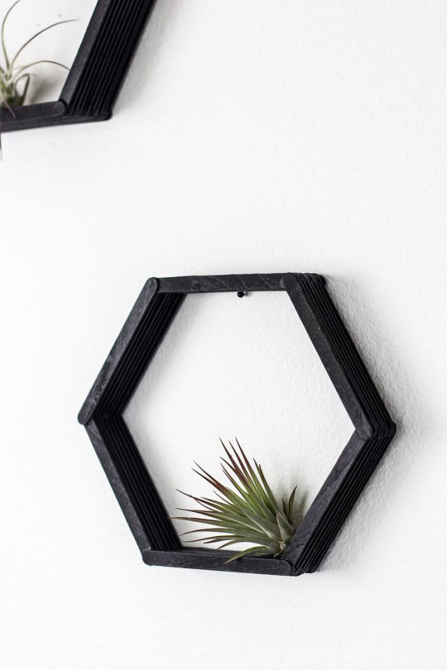 Easy DIY Hexagon Shelves -   22 diy Shelves popsicle sticks ideas