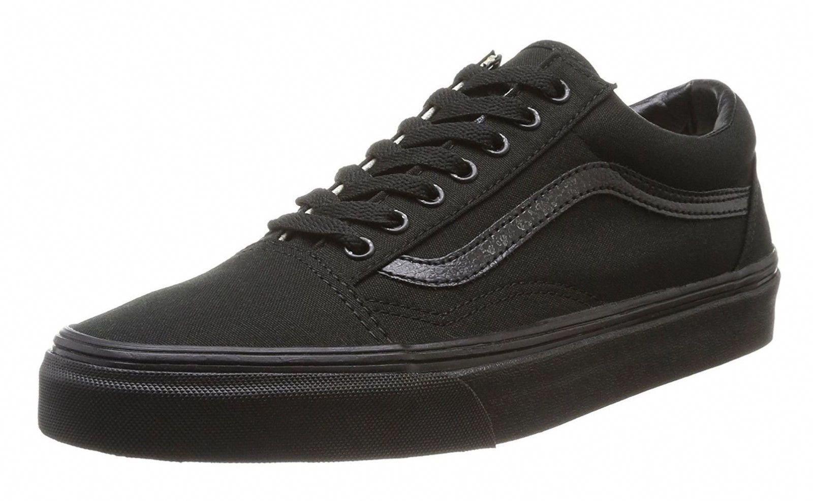 best sneakers 3f60f 8e78b Vans Old Skool Classic Black Black Womens Sneakers Tennis Shoes  Sneakers