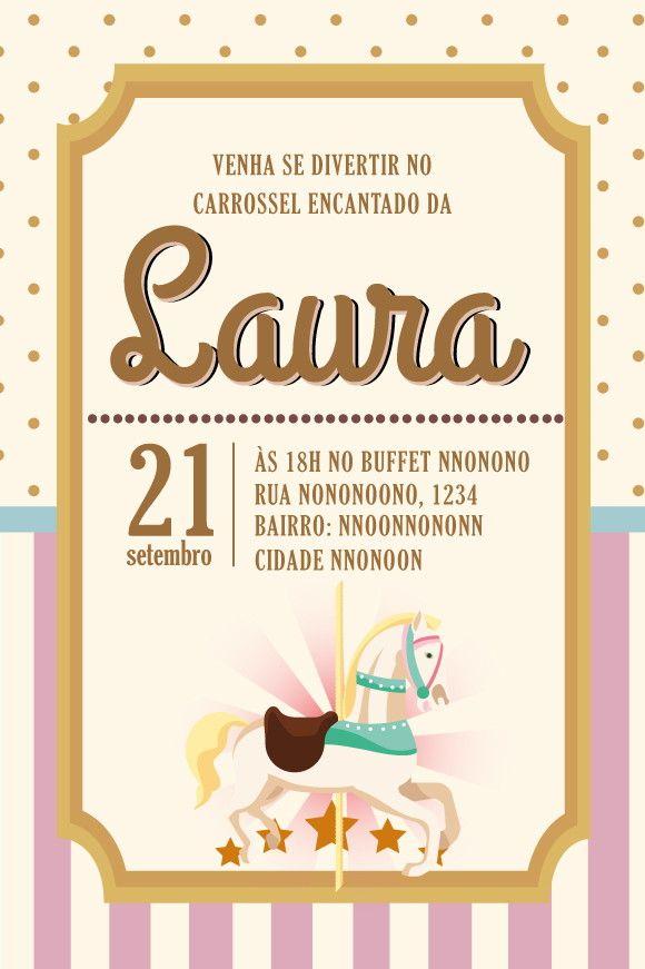 Fabuloso Convite ZAP (virtual) Carrossel Encantado JM49