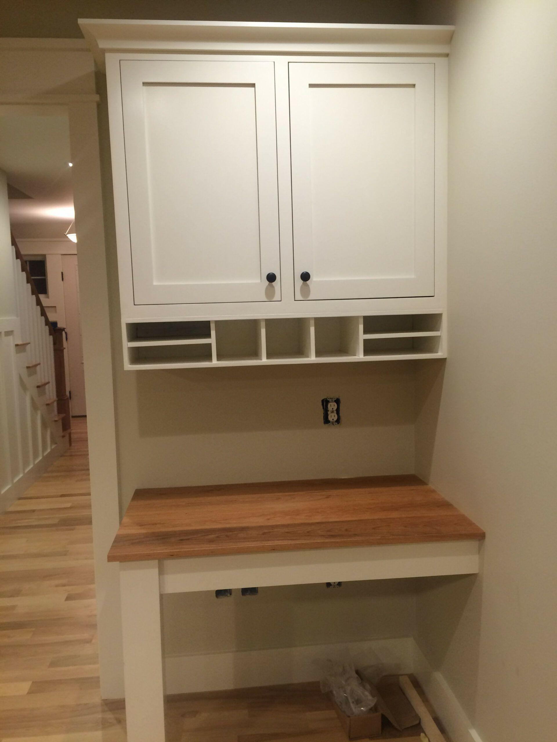 10 Custom Desk From Kitchen Cabinets Di 2020 Ruang Kerja Ruangan