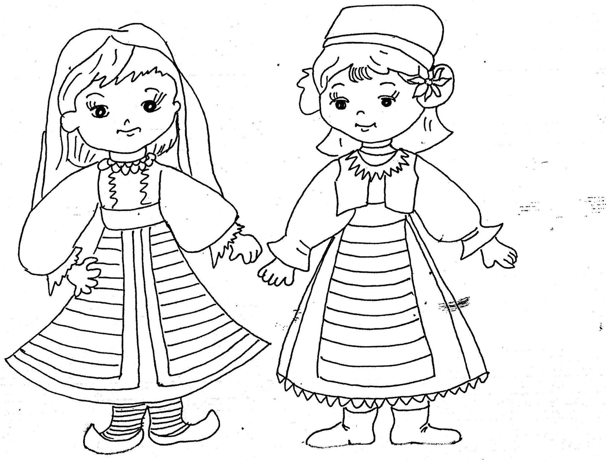 Copii Romania Decolorat Coloringpages Drawings Children Kids Kidsactivities