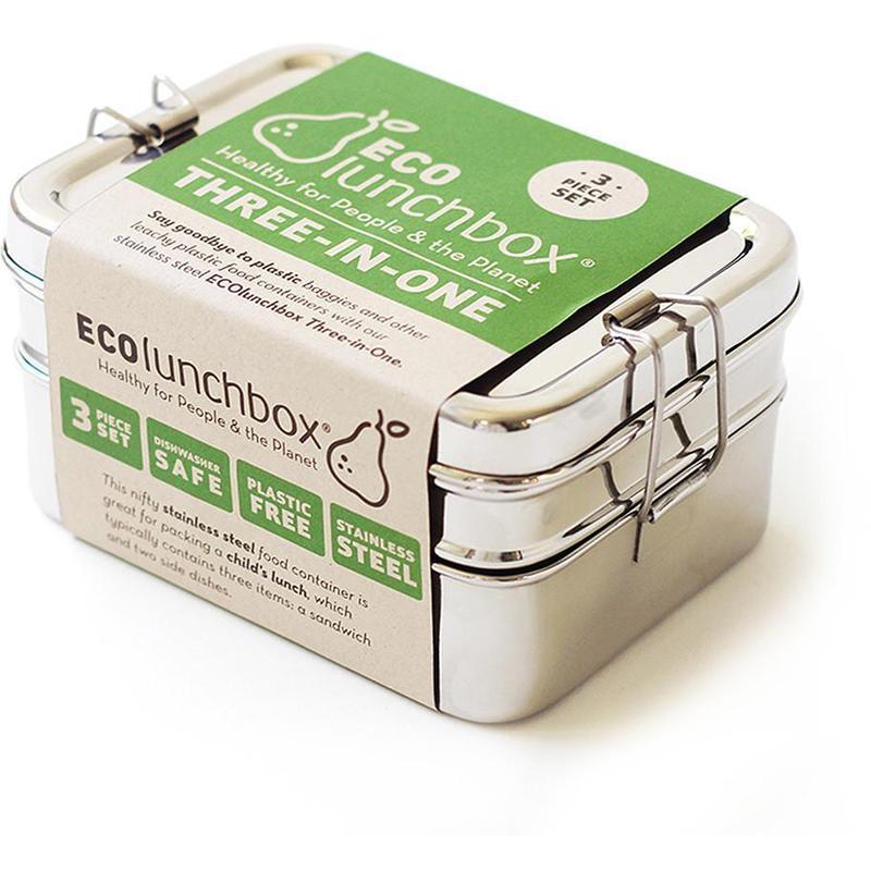 Essensbox frei von BPA Wiederverwendbarer Meal Prep Container Gesamtvolumen1900ml 4 in 1 Sattvii Edelstahl Eco Lunchbox /& Brotdose T/ÜV gepr/üft Umweltfreundliche Brotbox