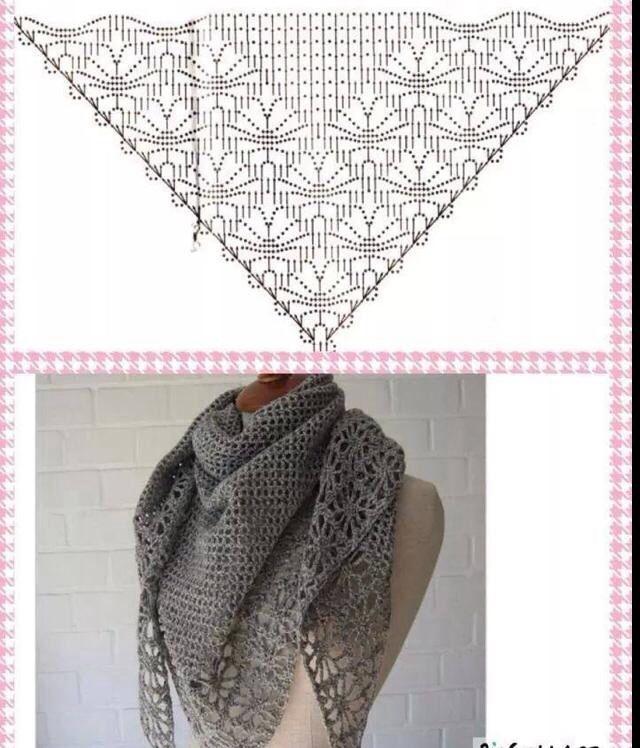 Omslagdoek | Crochet | Pinterest | Chal, Bufanda cuello y Arte manual
