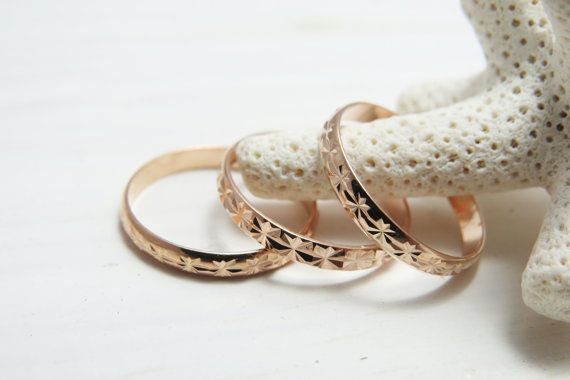 Rose gold ring Stacking rings Above knuckle ring by RomisJewelry, $25.00