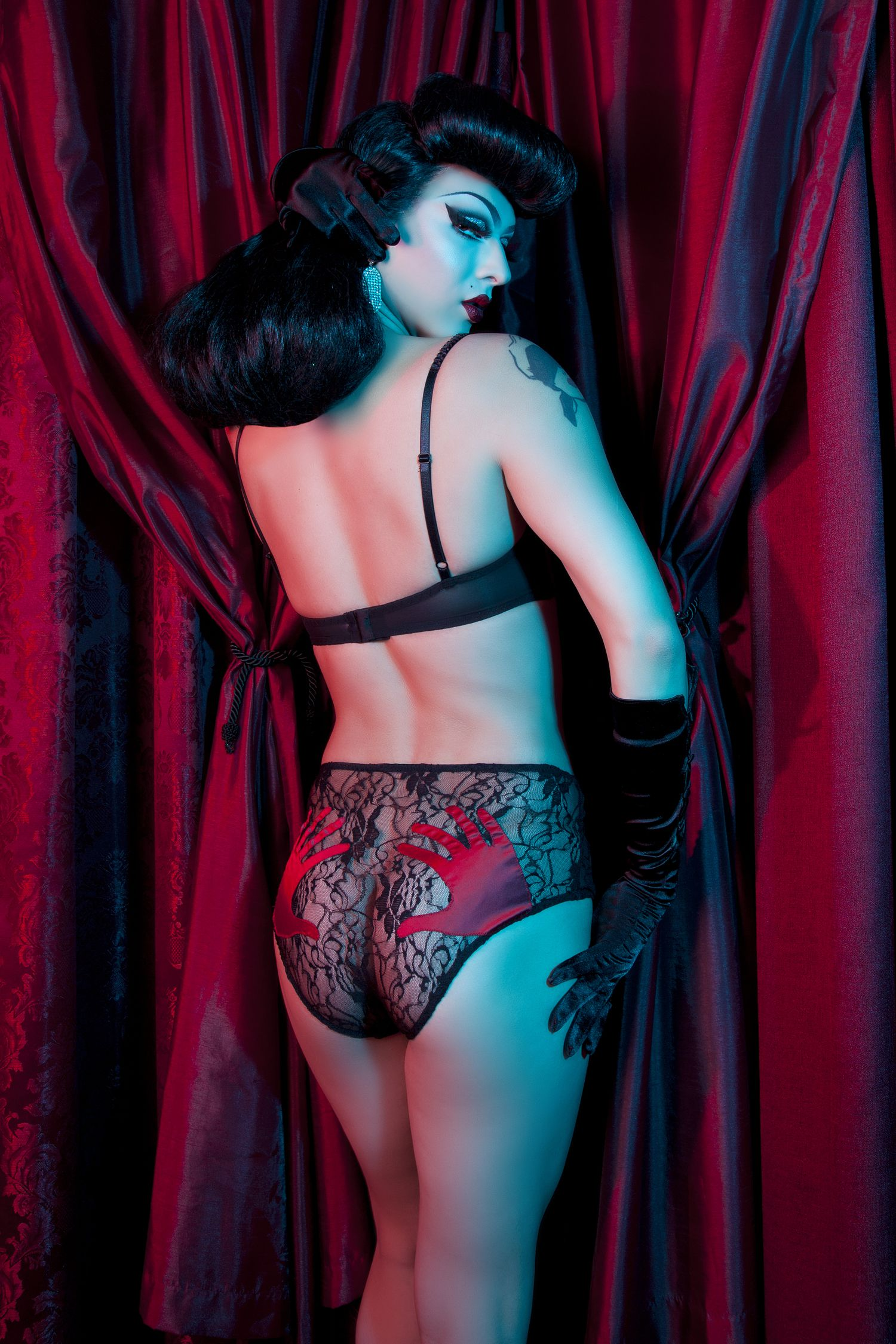 42c7ad950 Violet Chachki  The New Face of Bettie Page Lingerie by Playful ...