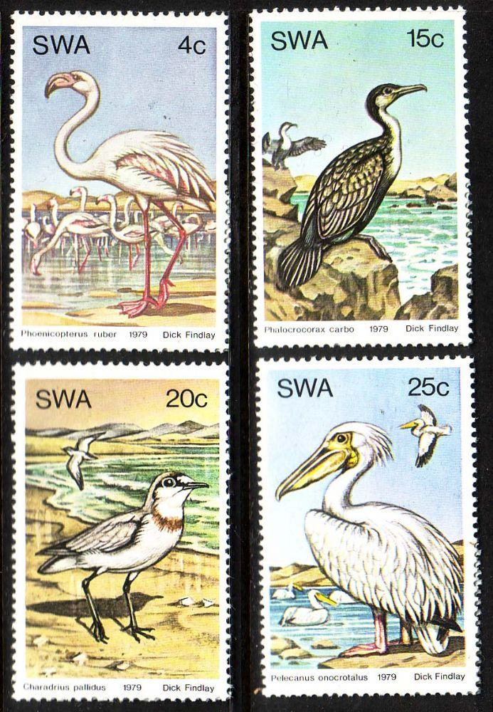 South West Africa 1979 Water Birds Set Fine Mint SG 330 3 Scott 429 32Other African and British Commonwealth Stamps HERE!