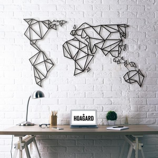 New metal wall art world map hoagard home for good new metal wall art world map hoagard gumiabroncs Image collections