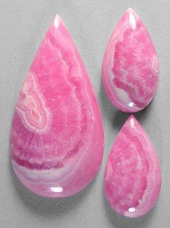 RHODOCHROSITE Oval Dark Pink CABACHON #2 from ARGENTINA