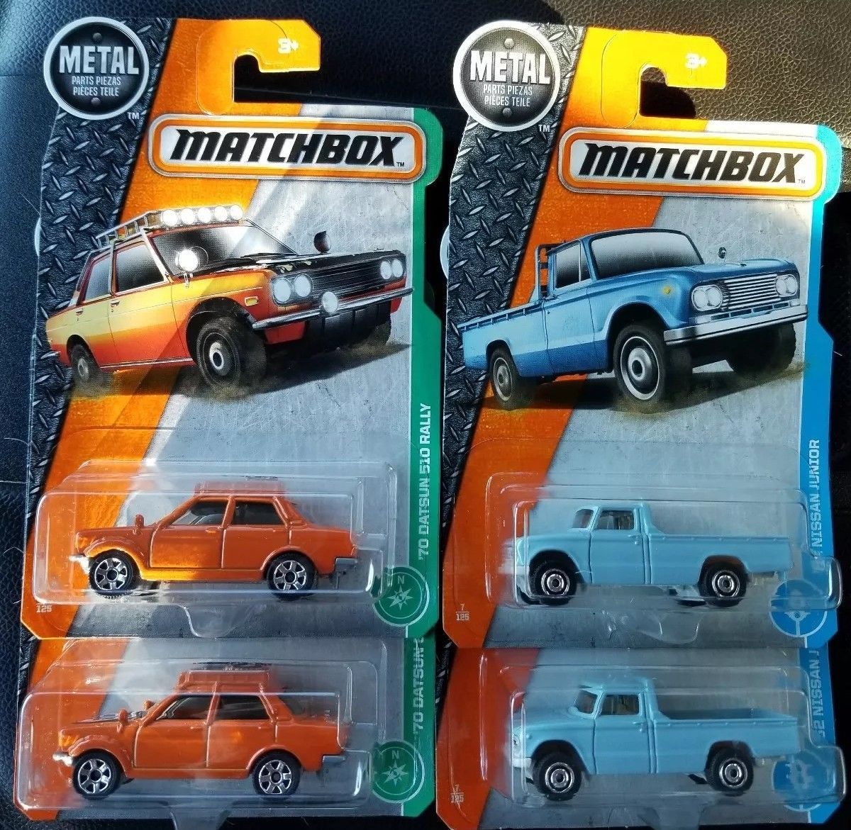 Awesome Awesome Lot of 4 2017 Matchbox (2) \'70 Datsun 510 Rally & (2 ...