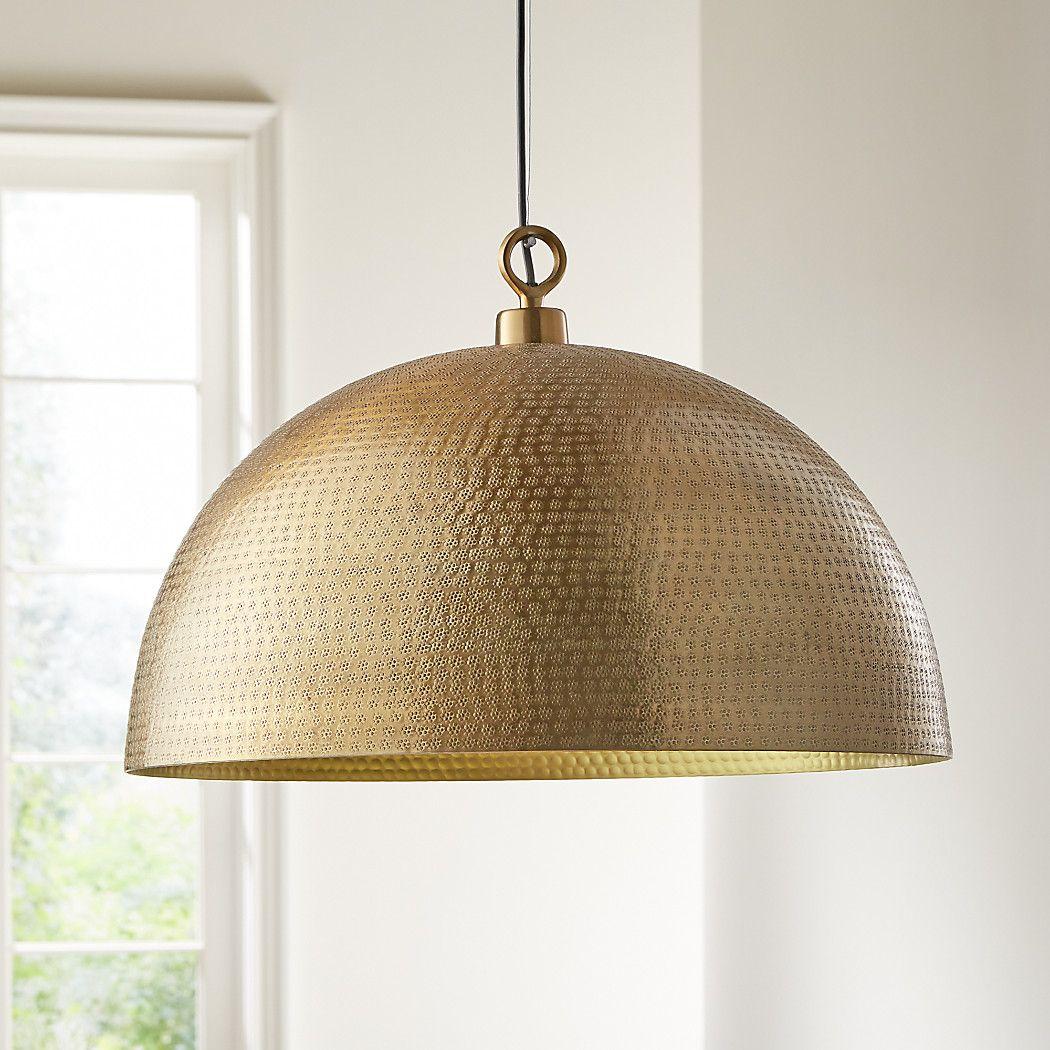 Rodan Hammered Brass Metal Dome Pendant Light + Reviews
