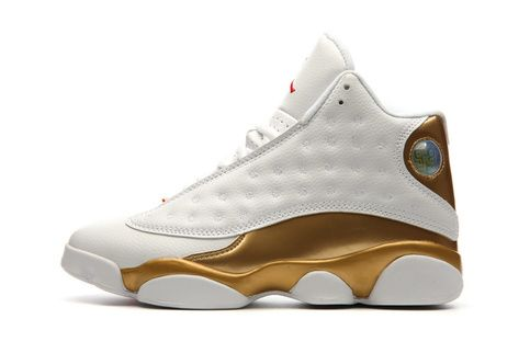 Nike Air Jordan Men 13 Retro WhiteGold Basketball Men