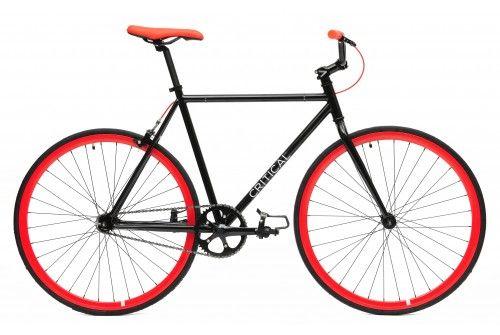 Black Frame Red Wheels Fixie Fixed Gear Bike Single Speed Fixie