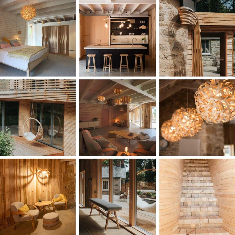 Tom raffields steam bent wooden furniture and lighting in his grand designs home