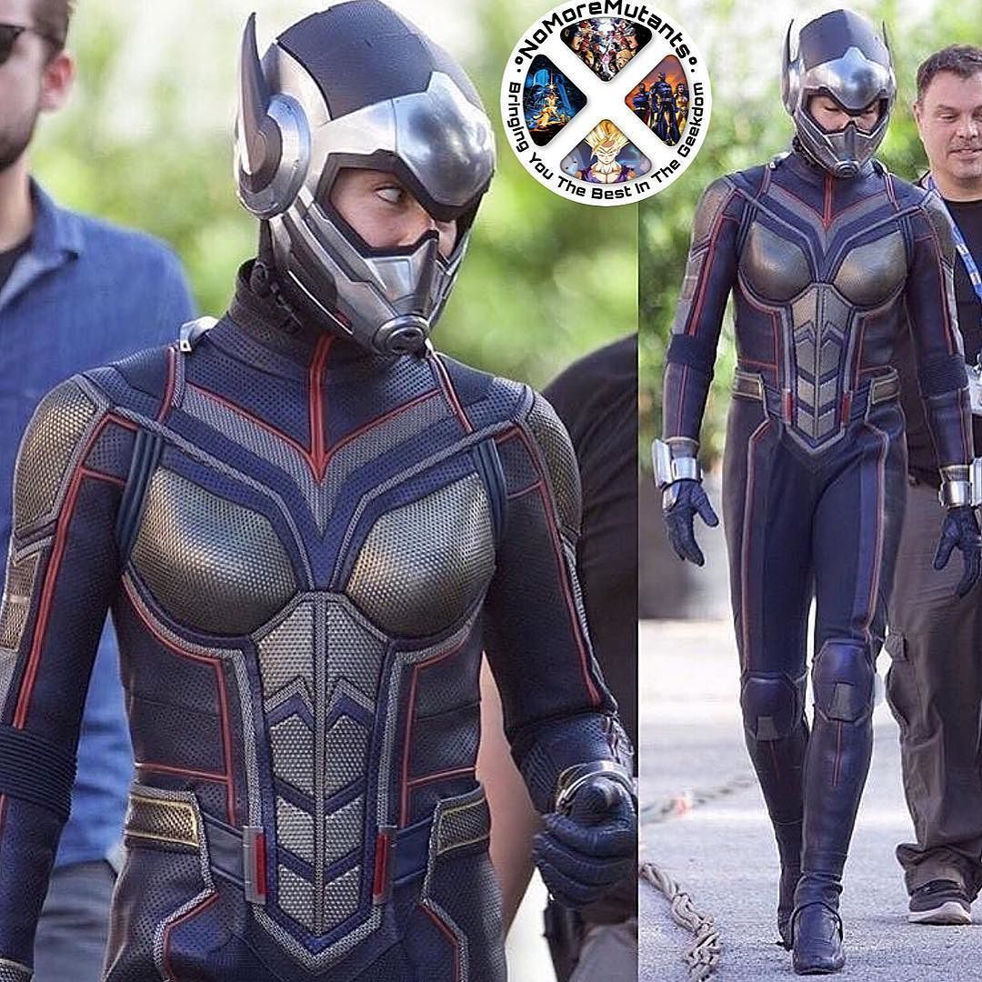 The Wasp is on set and looking good ...