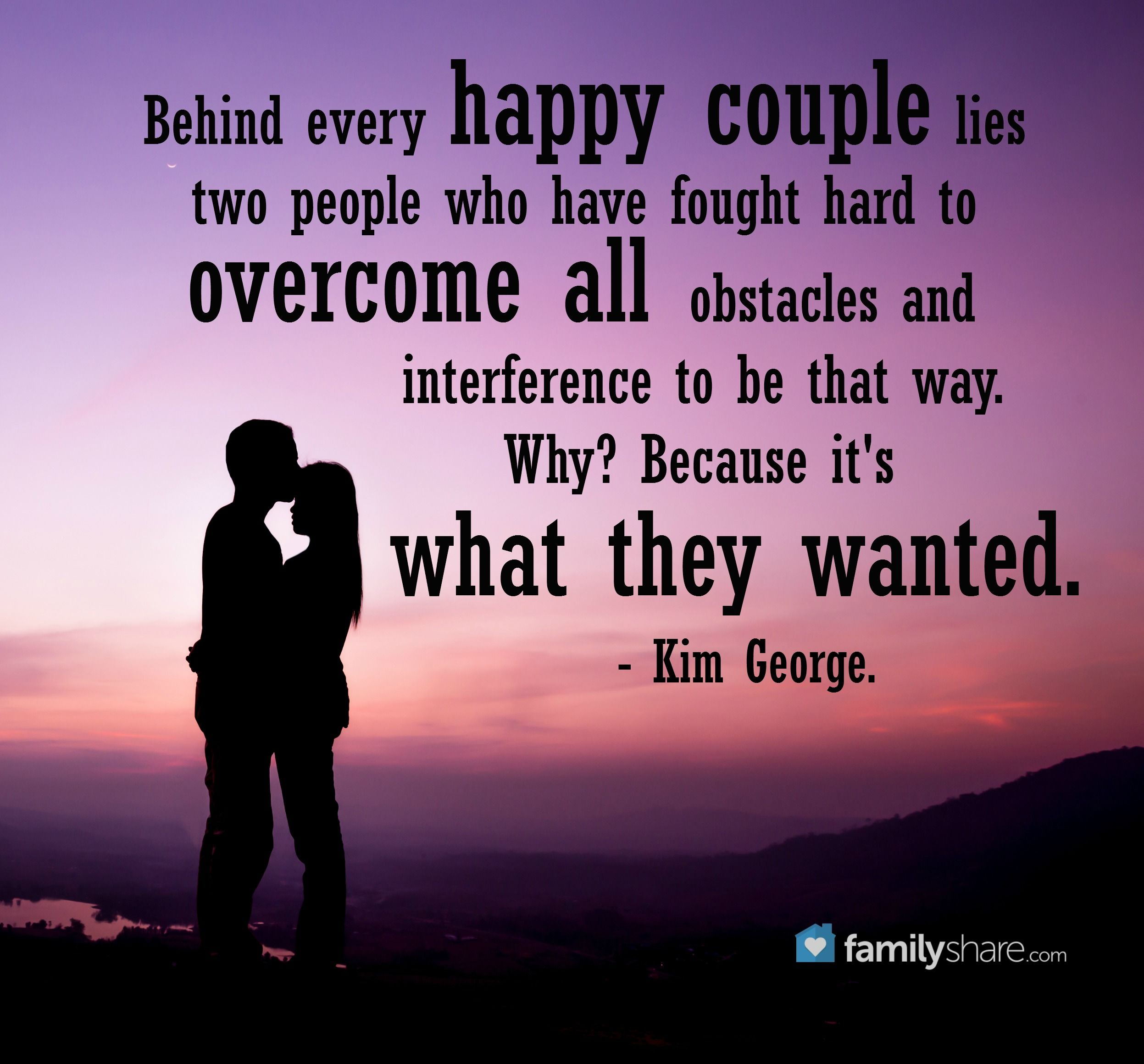 Behind Every Happy Couple Lies Two People Who Have Fought Hard To