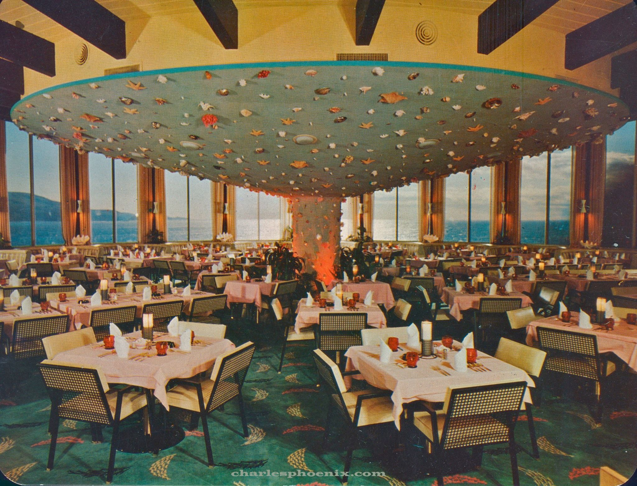 Seashells On The Ceiling At Marineland Restaurant In Palos Verdes Socal 1957