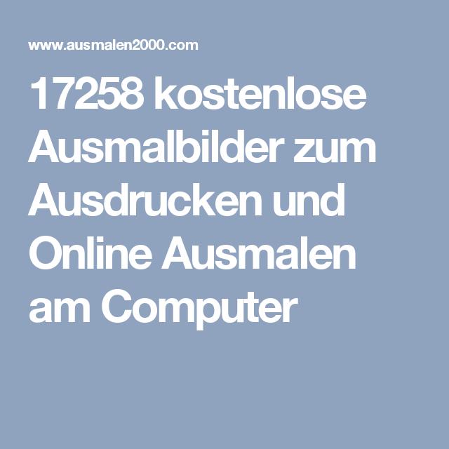 17258 Kostenlose Ausmalbilder Zum Ausdrucken Und Online Ausmalen Am