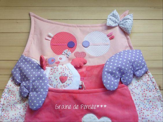 tapis d'éveil Super chouette rose et son mini doudou : Jeux, peluches, doudous…