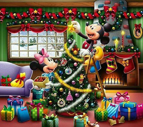 Christmas Disney Mickey Minnie Mouse Friends Noel Mickey Noel Disney Mickey Et Minnie