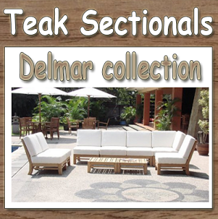 Delmar collection New Luxurious 7pc Teak Sectional