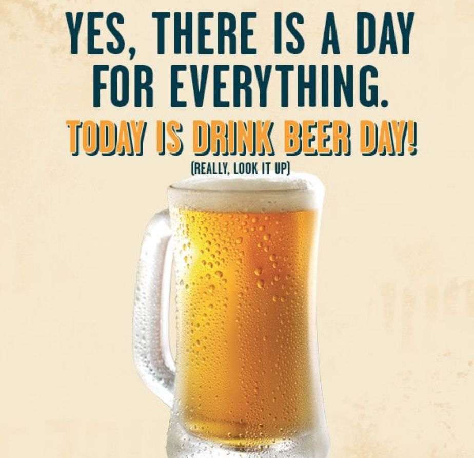 Let S Celebrate Beer Day Tonight Beer Day Drinking Beer Beer