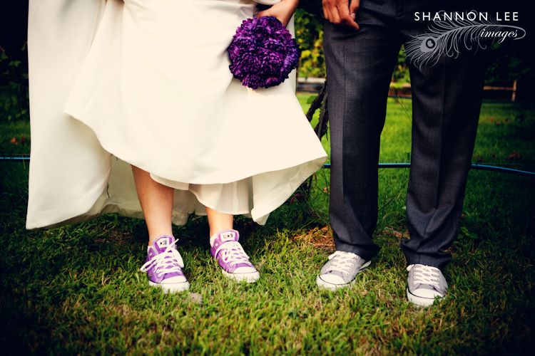 This is our Converse wedding: Purple and Grey Chuck Taylor shoes for ...