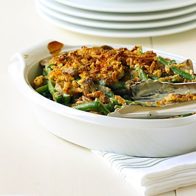 Fresh Green Bean Casserole ... Need to try for the holidays.