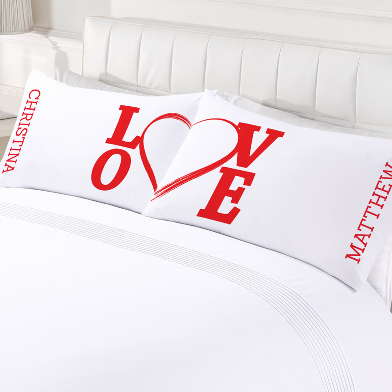 Personalized Love Couples Valentine s Day Pillowcase Set ... e7ec1908d