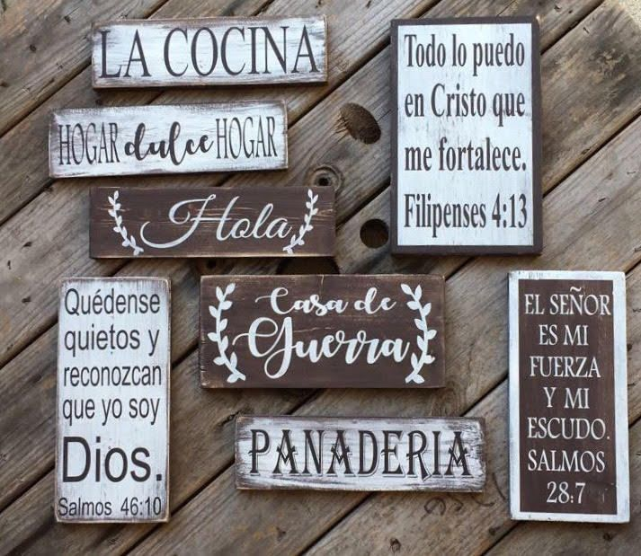 Details About Small La Cocina Wood Sign Spanish Kitchen Sign
