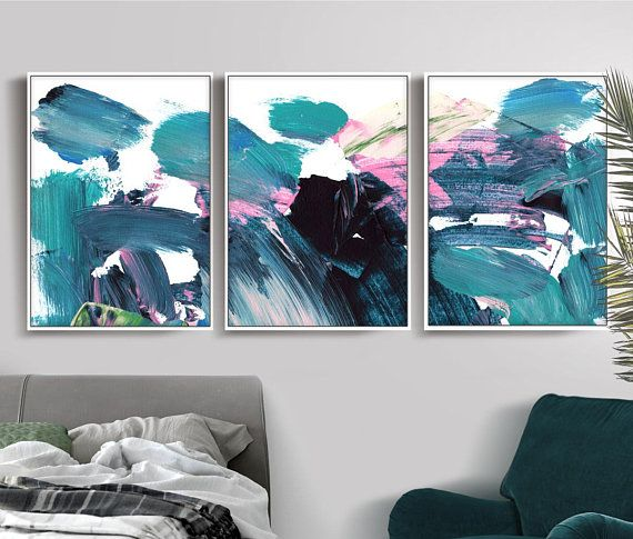 Set of 3 Prints, Abstract Art Print Set, 3 Abstract Prints, 50x70 ...