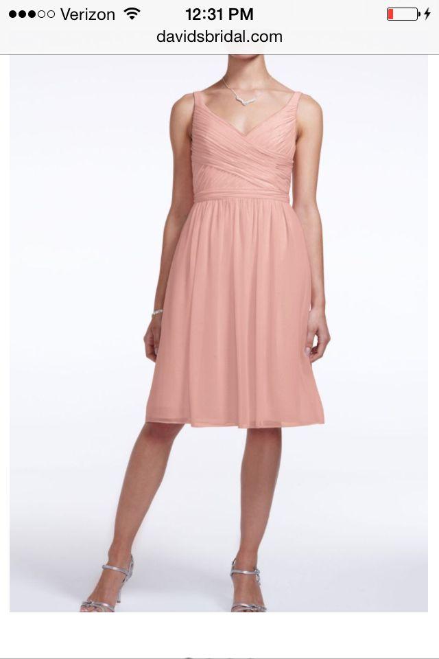 David Bridal Bridesmaid dress in Ballet. | My Pretty is getting ...