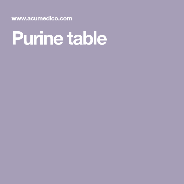 Purine Table Table Health And Beauty Health