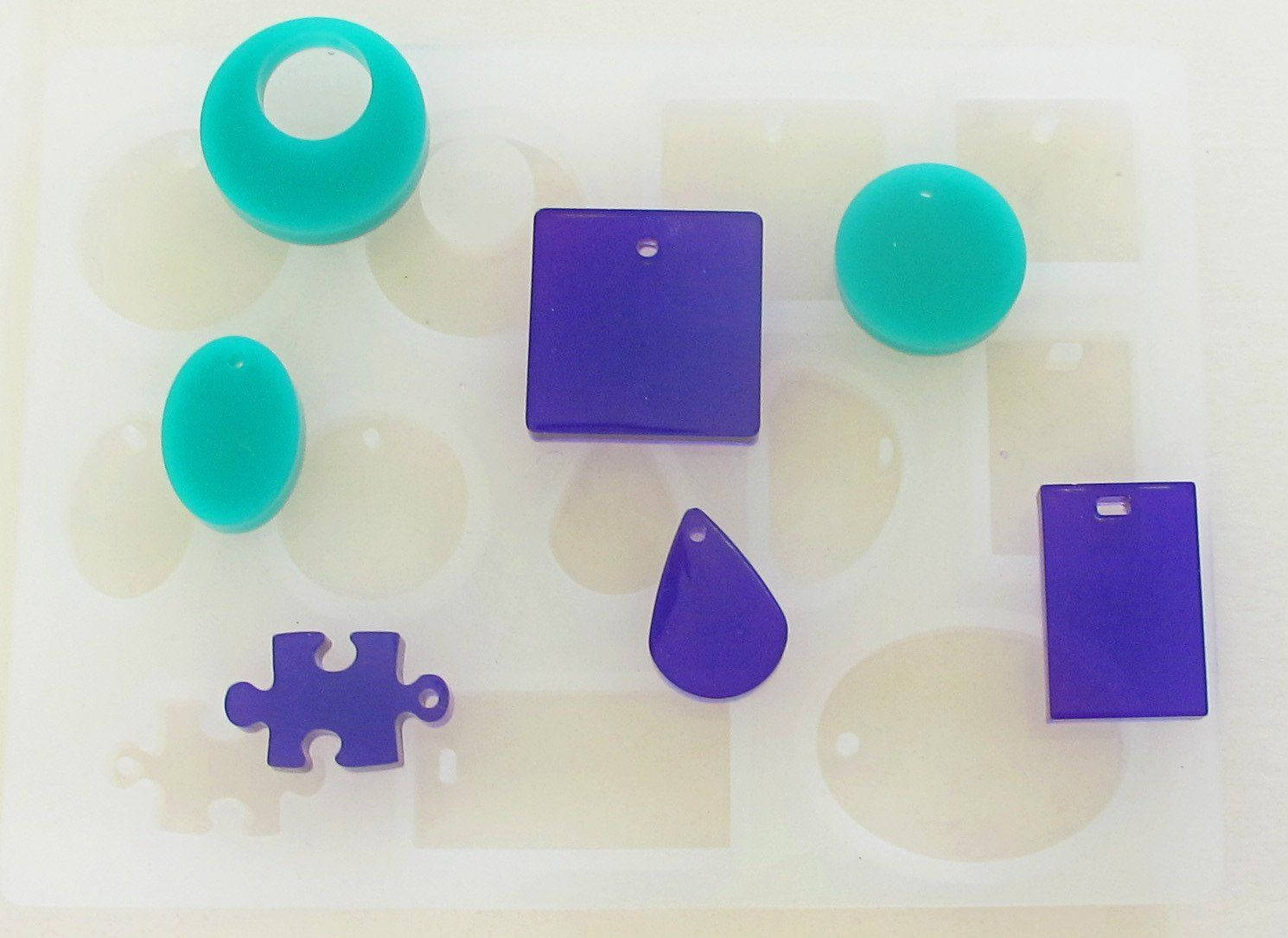 Clear Silicone Cabochon Sheet Mold 12 Cavity Resin Crafts Epoxy Resin Crafts Crafts