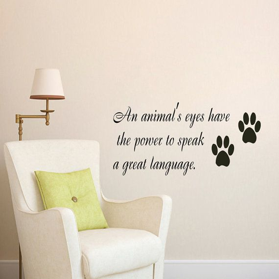 9f81ae72fd2c Wall Decal Quote Vinyl Sticker Decal Art Home Decor Mural Decals Quotes An  Animals Eyes Have