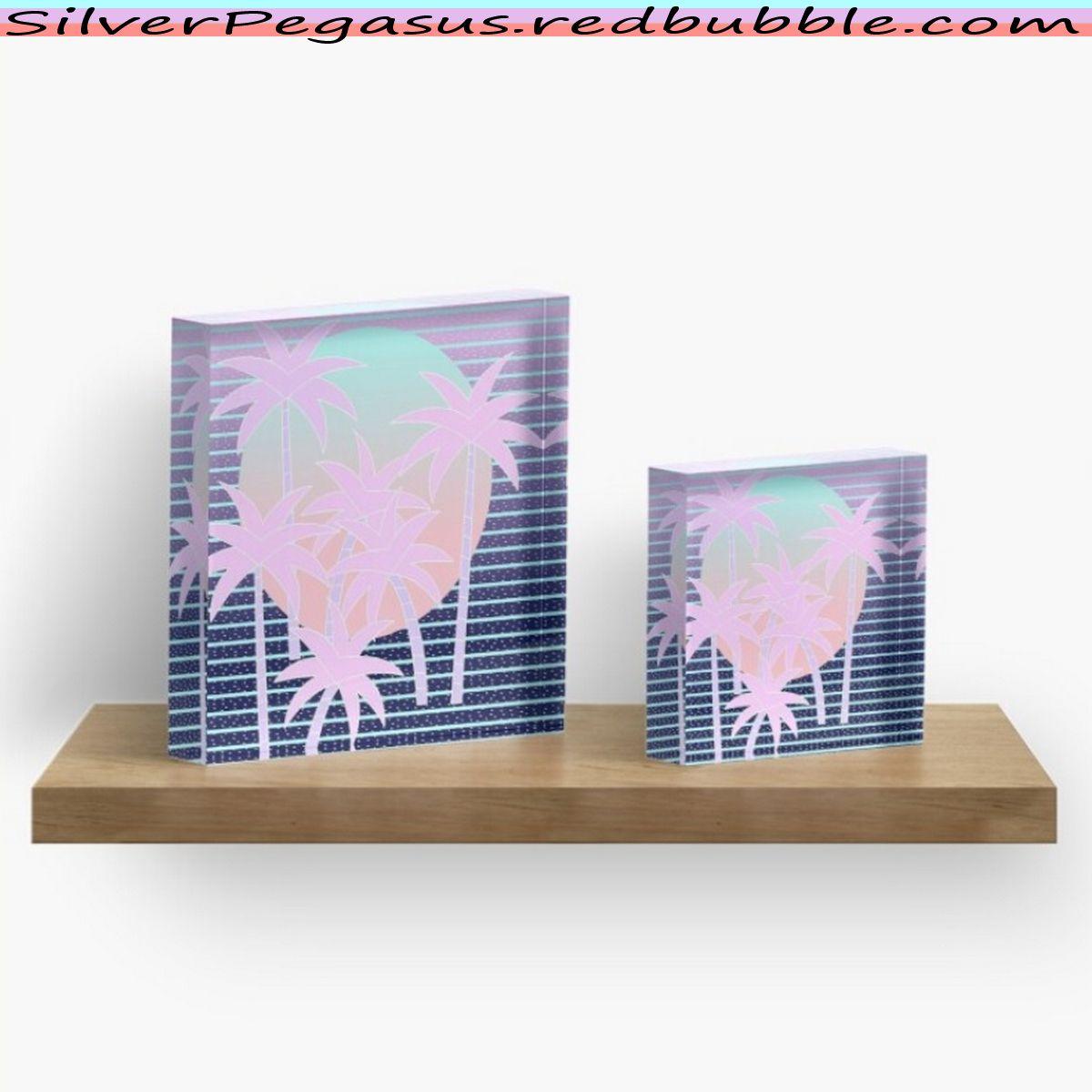 Hello Miami Moonlight Acrylic Block By Silverpegasus Home Decor Wall Art Trendy Home Decor Tropical Decor