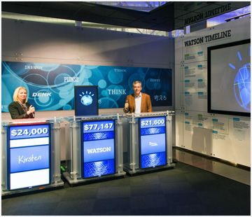 Ibm Watson Exhibit Featuring The Original Jeopardy Stage