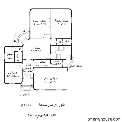 تصاميم بيوت صغيرة House Floor Design House Layout Plans Family House Plans