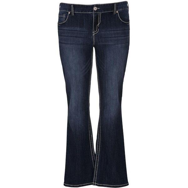 de151401331 maurices Plus Size - Denim Flex ™ Dark Wash Slim Boot Jeans ( 49) ❤ liked  on Polyvore