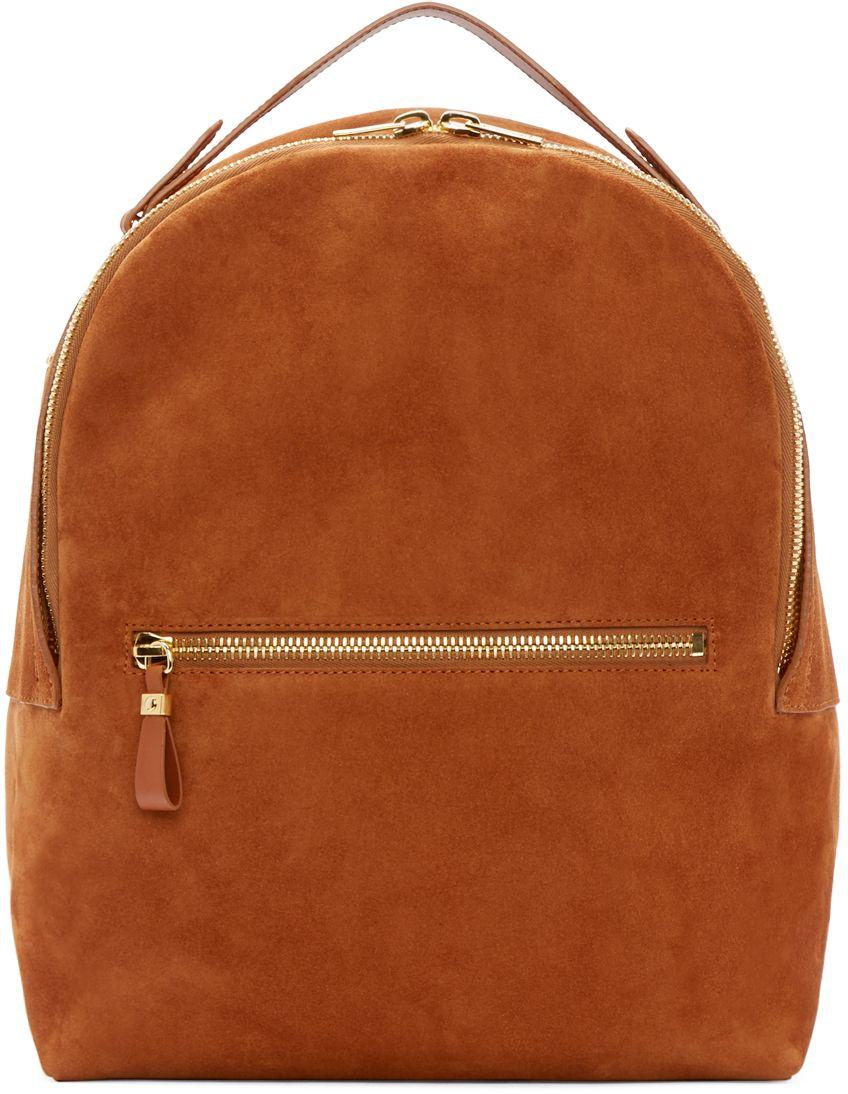 540c536fab4 Sophie Hulme  Tan Suede Wilson Backpack