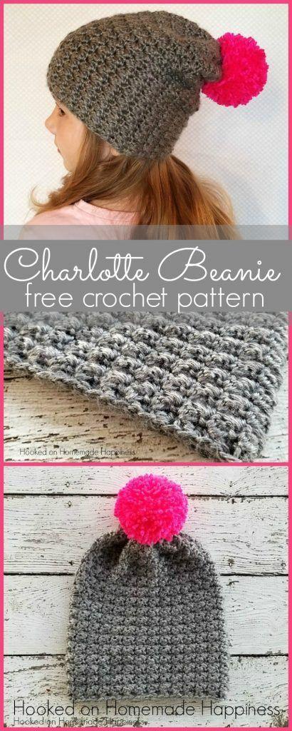 Charlotte Slouchy Beanie Crochet Pattern | Gorro tejido y Tejido