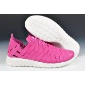 welcome to buy cheap Nike Roshe Run Woven For Women's Pink/White Sports Shoes discount uk