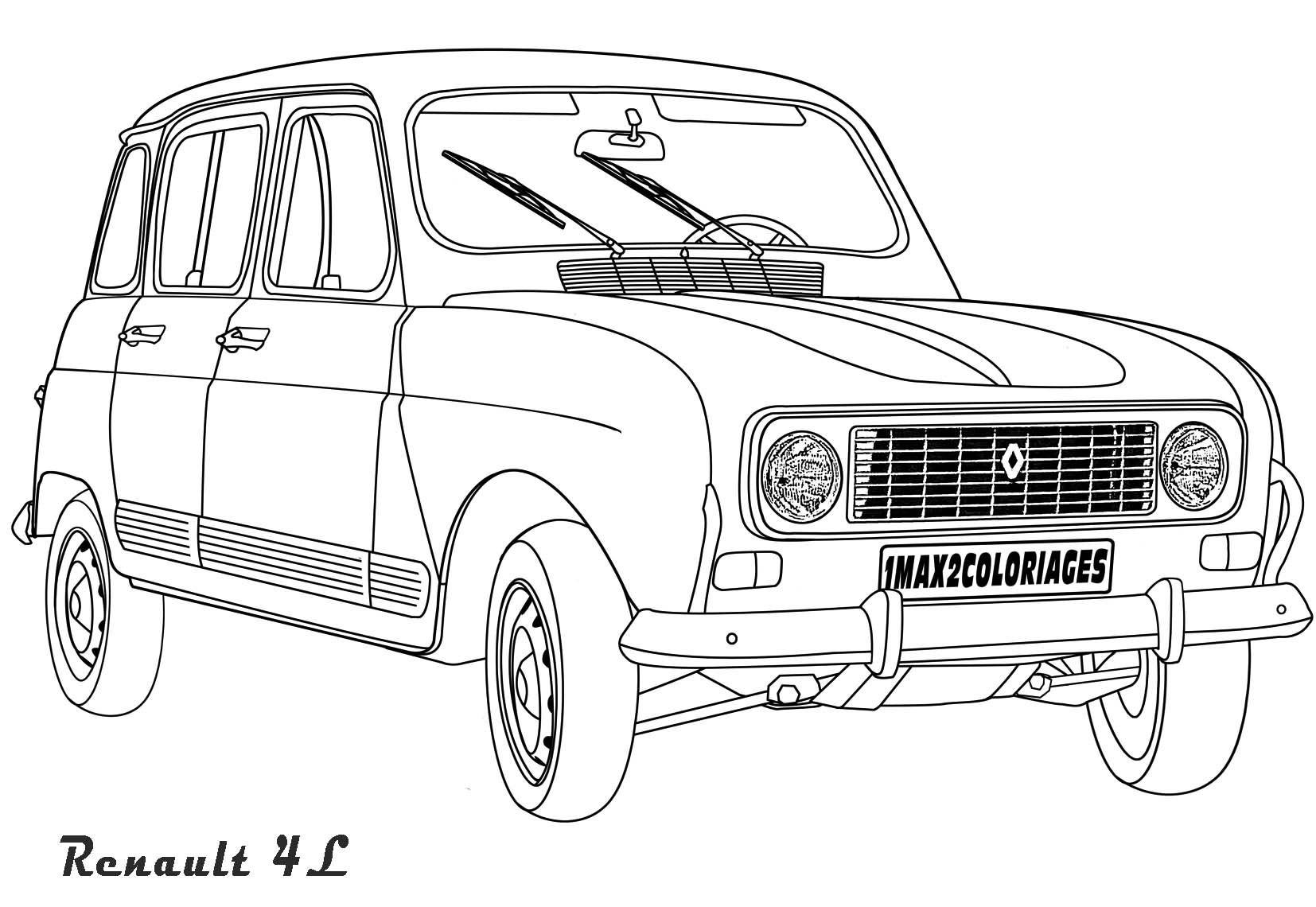 Coloriage De Voiture Peugeot